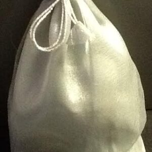 Favor Bags Silver Organza with round bottom large