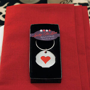 Keychain Card Suit Heart