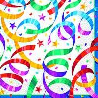 Tableware Party Streamers Lunch Napkins