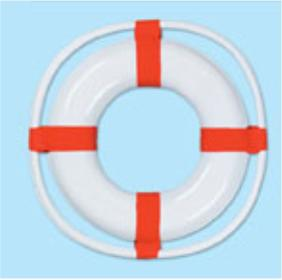 A Nautical Life Preserver Plastic 23in