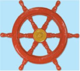 A Nautical Ship Helm Plastic 24in