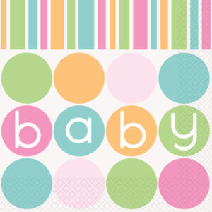 Baby Shower Pastel Napkins