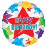 Balloon Birthday Stars 18in