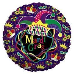 Balloon Mardi Gras Mylar