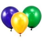 Balloon latex Green Purple Yellow