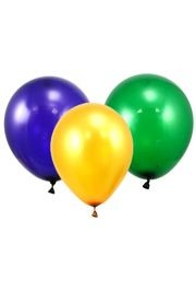 Balloon latex Green Purple Yellow