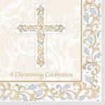 Grace Christening  Beverage Napkins