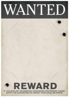 20's Wanted Poster