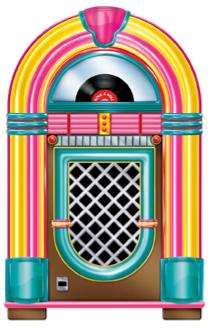 50's Jukebox Cutout 36in