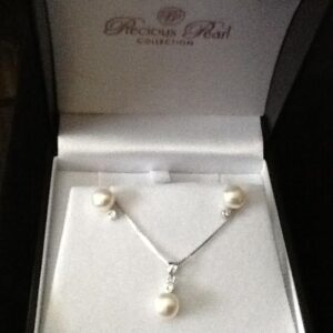 Bridal Jewelley Set Pearl Wih Sterling Silver