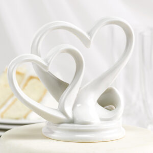 A Double Heart Cake Topper