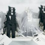 Favor Bag Bride  Groom Tux 12ct