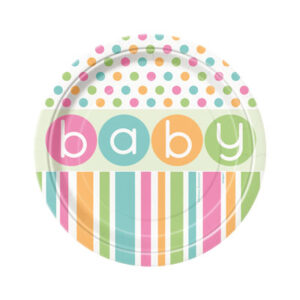 Baby Shower Pastel Plates