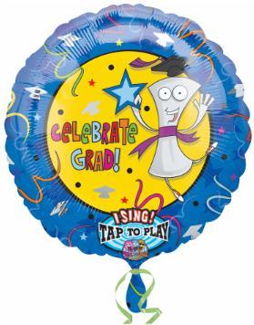 Balloon Celebrate Grad  28in Singing