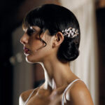Bride Hair Comb with pearls