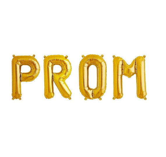 A Balloon Set  Prom Gold 34in