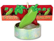 Chili Pepper Candles 5ct
