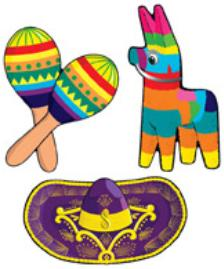 Cutouts Mexican 3ct