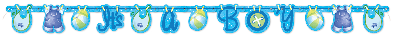 Clothesline Its a Boy Banner