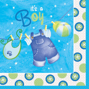 Clothesline Its a  Boy Napkins