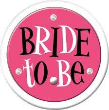 A Bride To Be Flashing Button