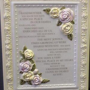 """Gift Ceramic Plaque """"Grandmother"""""""