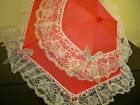 Parasol Red with Lace trim