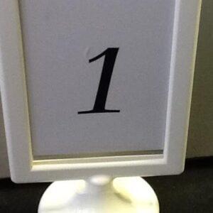 A Frame White Table No Holder