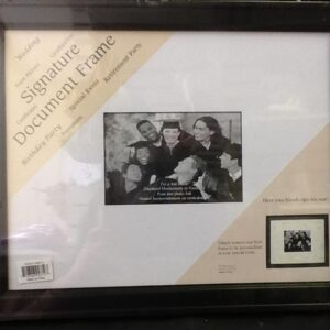 Autograph Signature frame with matte