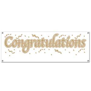 Banner Congratulations  65x21in