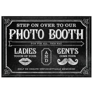 A Direcional Photo Booth Sign