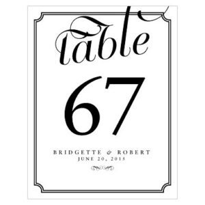 1-12 Table Number Expression