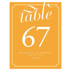 1-12 Table Numbers Gold Color