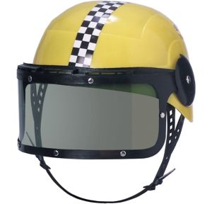 A Race car Helmet with Visor