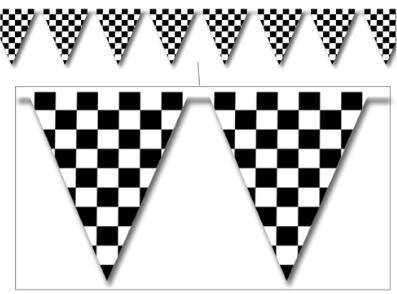 A Race Car Pennant Banner