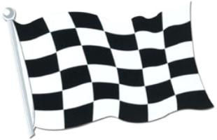 A Race Car Flag Cutout 18in
