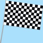 A Race Car Flag on stick