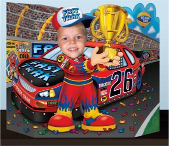 A Race Car Photo Prop
