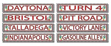 A Race Track Street Signs 4ct