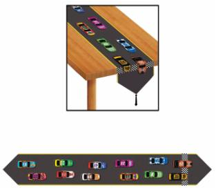 A Race Car Table Runner