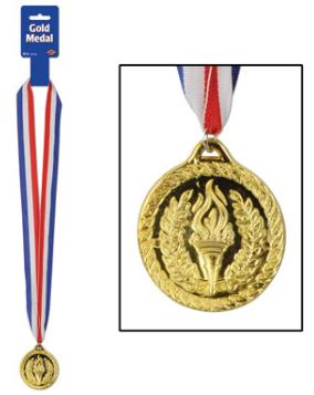 Award Ribbon Medal Gold