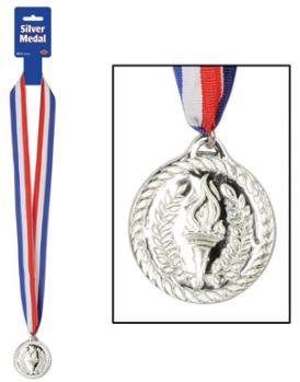 Award  Ribbon Medal  Silver
