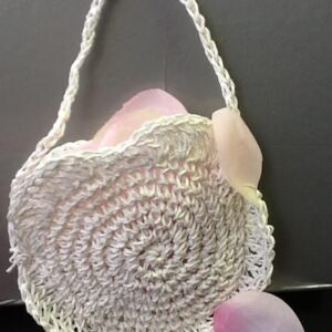 White Flower Bag