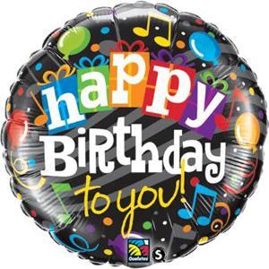 Musical Notes  Birthday Balloon