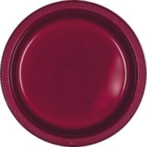 Tableware Burgundy Plastic Plates