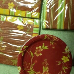 Flowers Fall Paper Plates 7 in