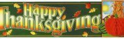 Banner Happy Thanksgiving with Tissue Pumpkin