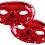 Canada Red Mettalic Mask