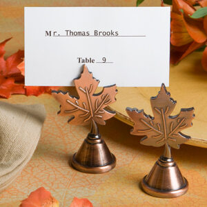 Fall  Leaf Copper Placecard /Photo Holder