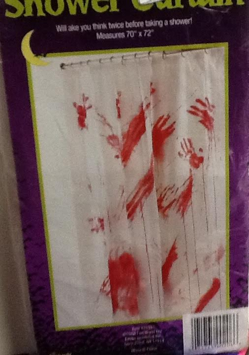 Halloween Bloody Shower Curtain
